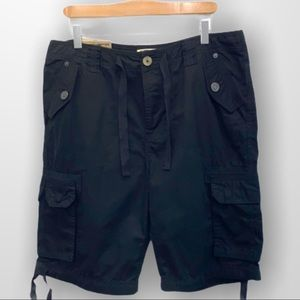 TRIPLE FIVE SOUL Cargo Shorts Black Size 34